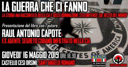 Raùl Capote a Sant'Angelo Romano – LA GUERRA CHE CI FANNO